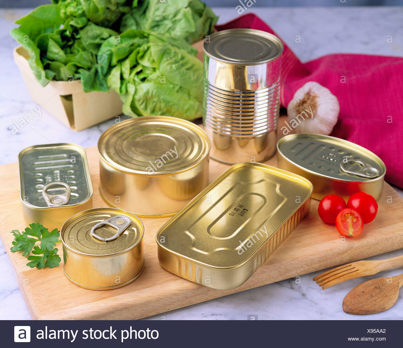Preserved food - Stock Image