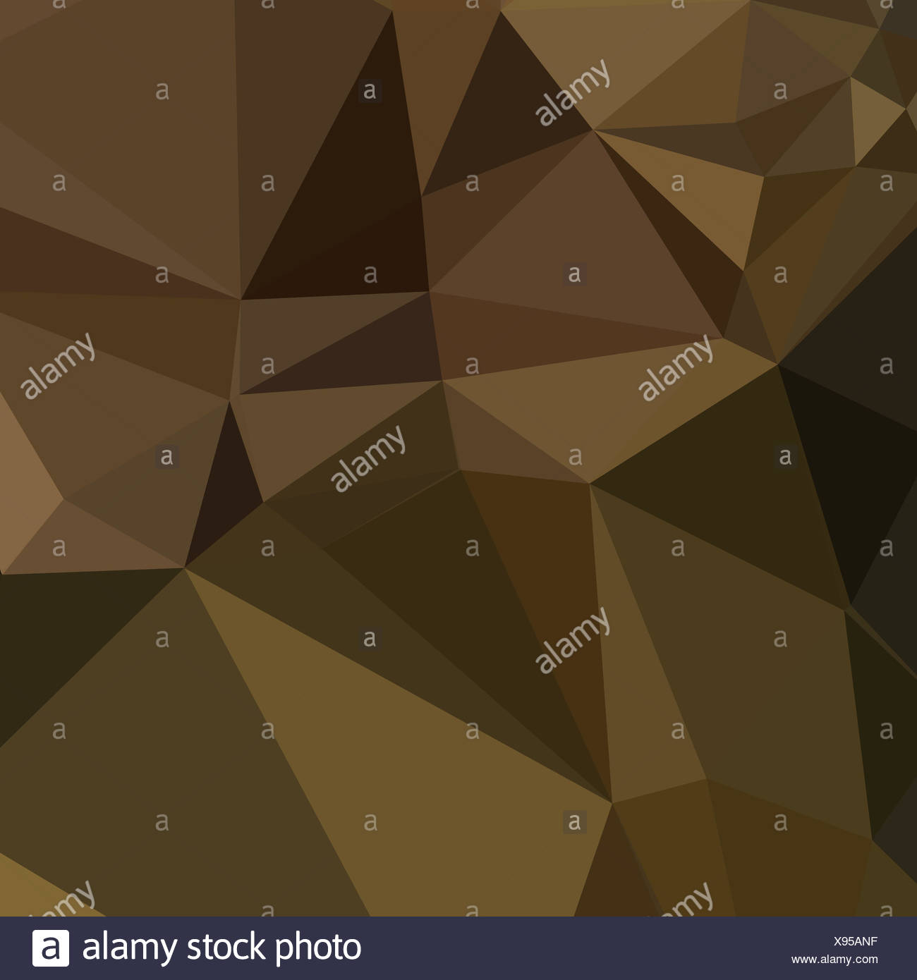 Caput Mortuum Brown Abstract Low Polygon Background - Stock Image