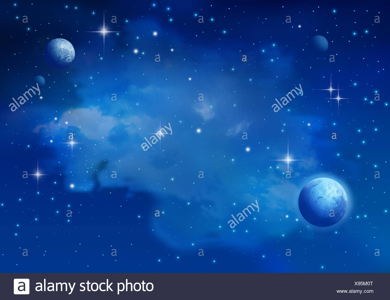 science space stars - Stock Image