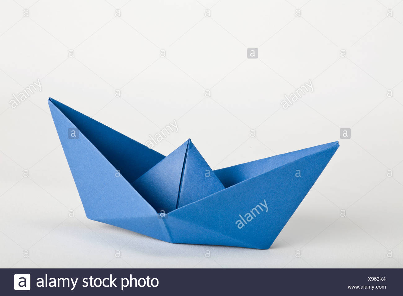An Origami Boat Stock Photo 281032392