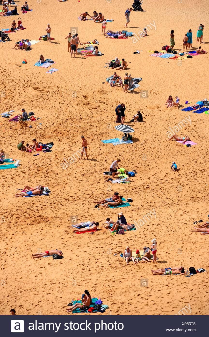 A view of Carvoeiro beach, Algarve, Portugal. Stock Photo
