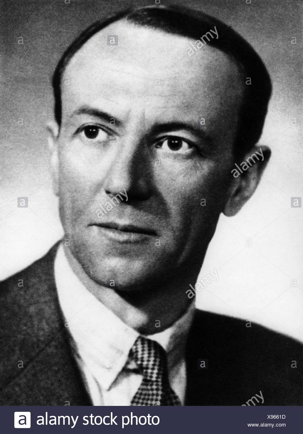 Chadwick, James, 20.10.1891 - 24.7.1974, British scientist (physicist), portrait, 1930s, 30s, Additional-Rights-Clearances-NA - Stock Image