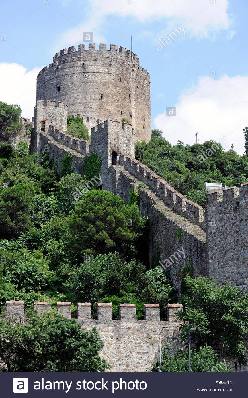 Rumelihisarı Fortress, Rumelian Castle, European Castles, Sariyer district, Bosphorus, Bogazici, European bank of Istanbul Stock Photo