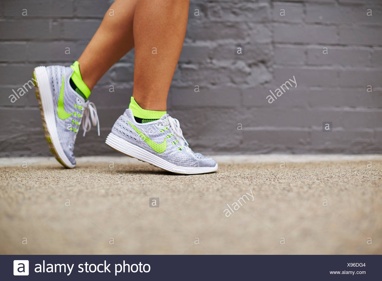 Womans Nike Running Shoes Stock Photo