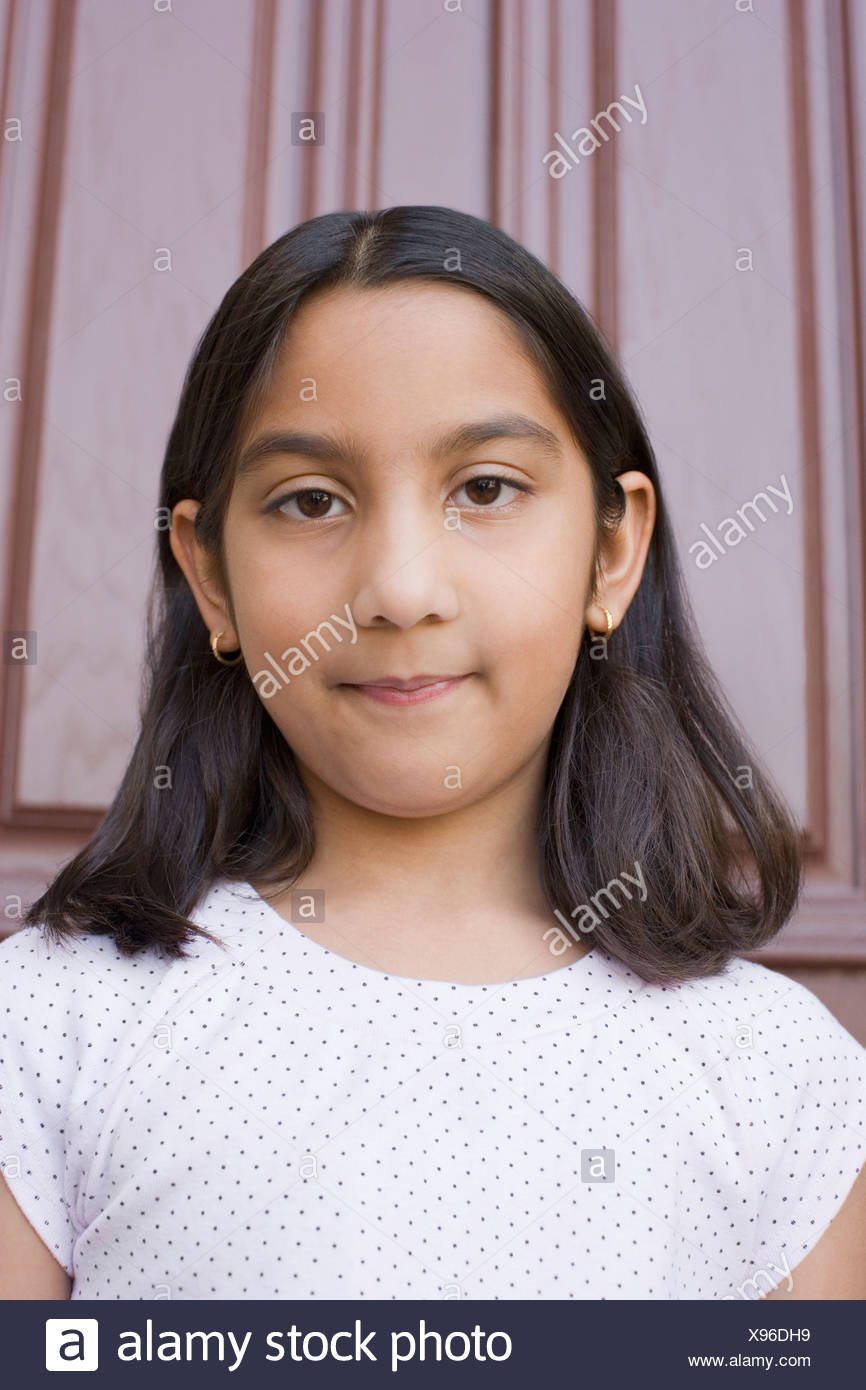 Portrait Of A Girl Smiling Stock Image