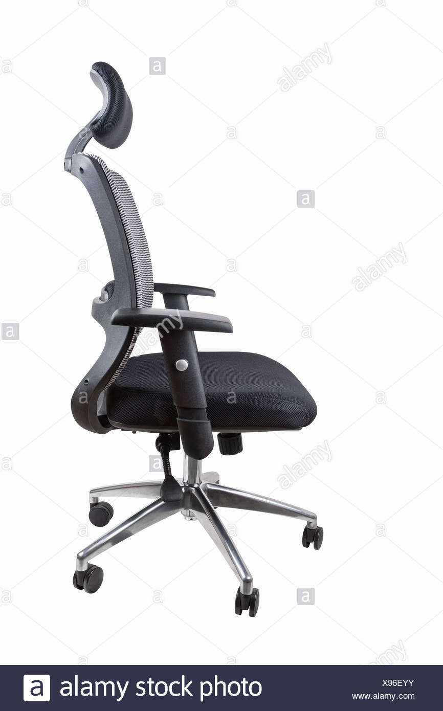 ergonomic office swivel chair isolated - Stock Image