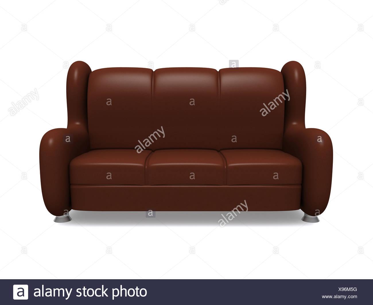 sofa. 3d - Stock Image