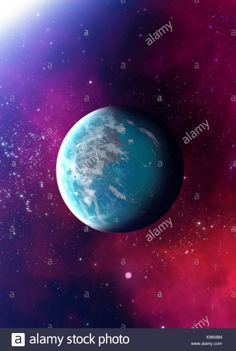Planet in outer space, illustration. - Stock Image