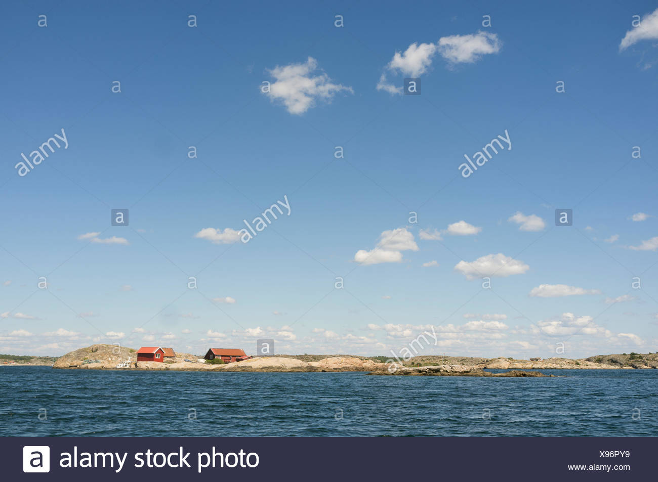 Idyllic view of lake against sky - Stock Photo