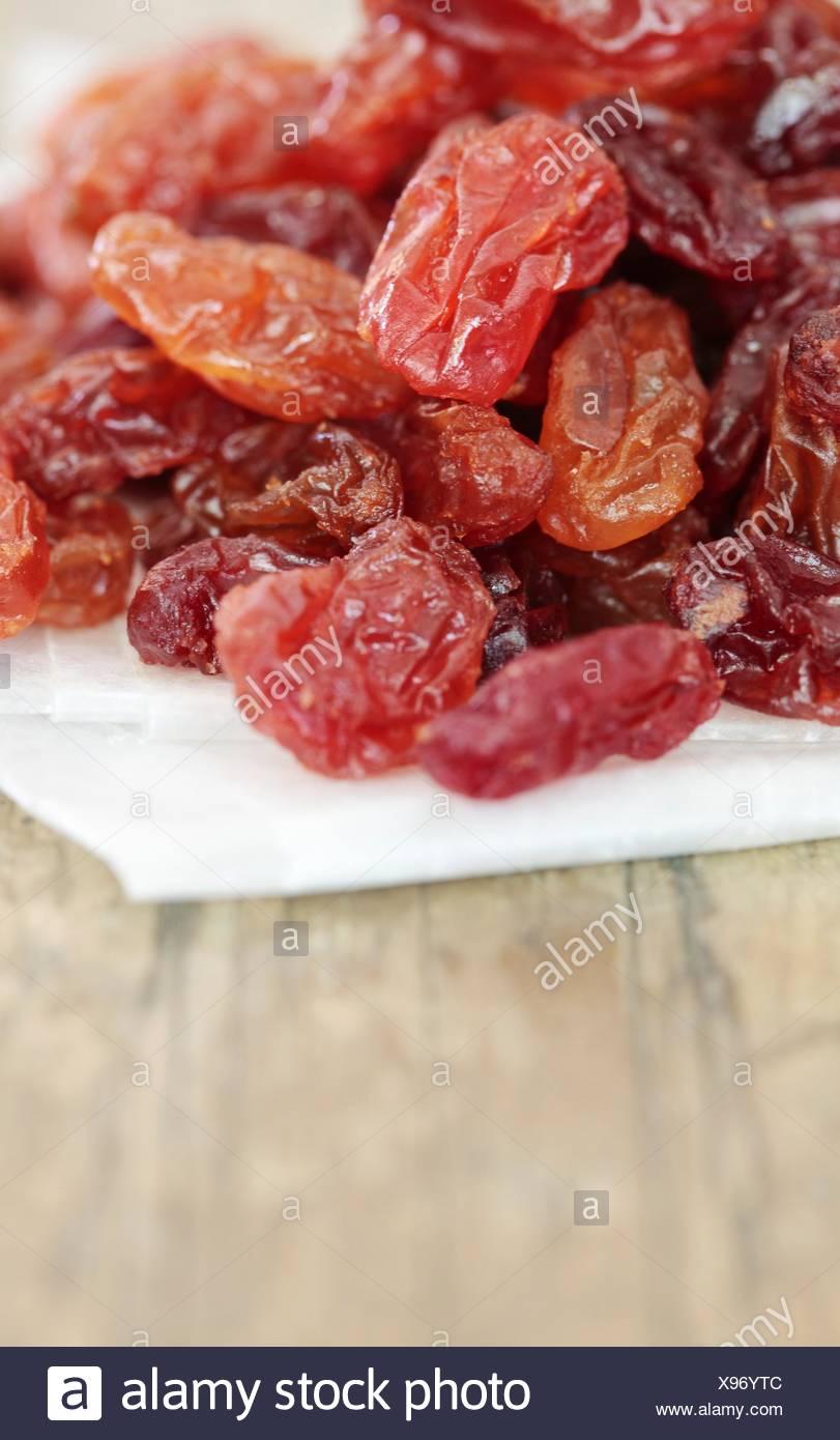 Crimson raisins. - Stock Image