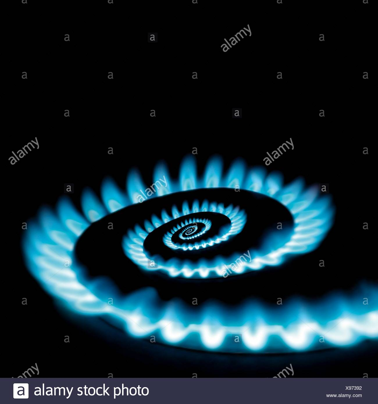Conceptual vicious circle of energy crisis gas burner spiral