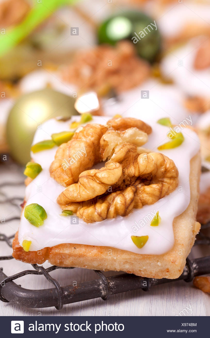 Christmas Cookies With Walnut And Pistachio Stock Photo 281054920