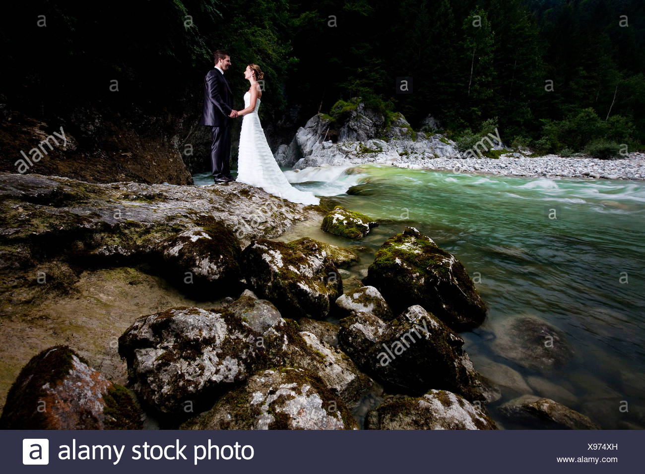 Woman Looking At Wedding Dresses Stock Photos Woman Looking At