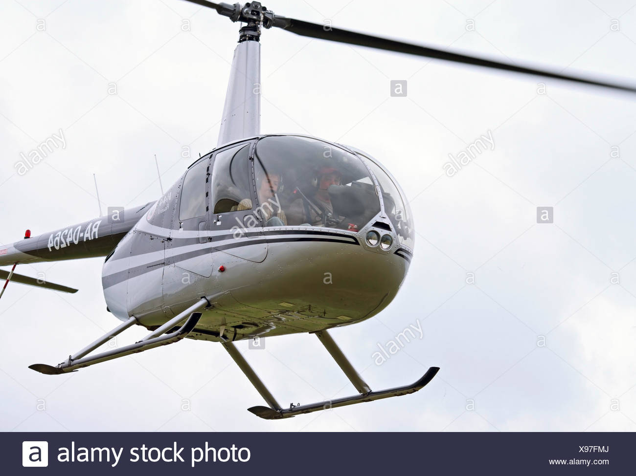 Closeup of R-44 helicopter - Stock Image