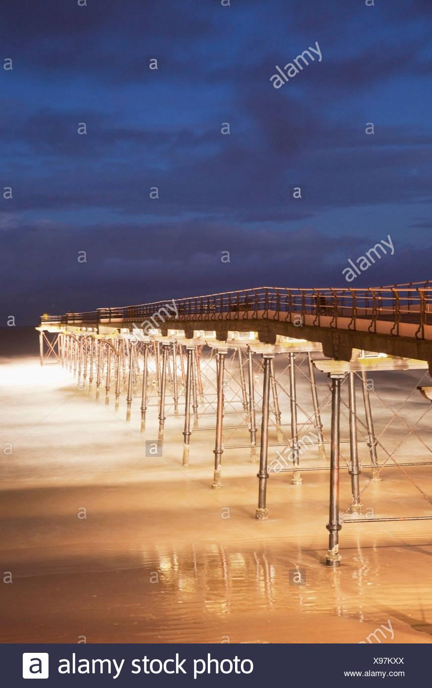 Yorkshire, England; Saltburn Pier - Stock Image