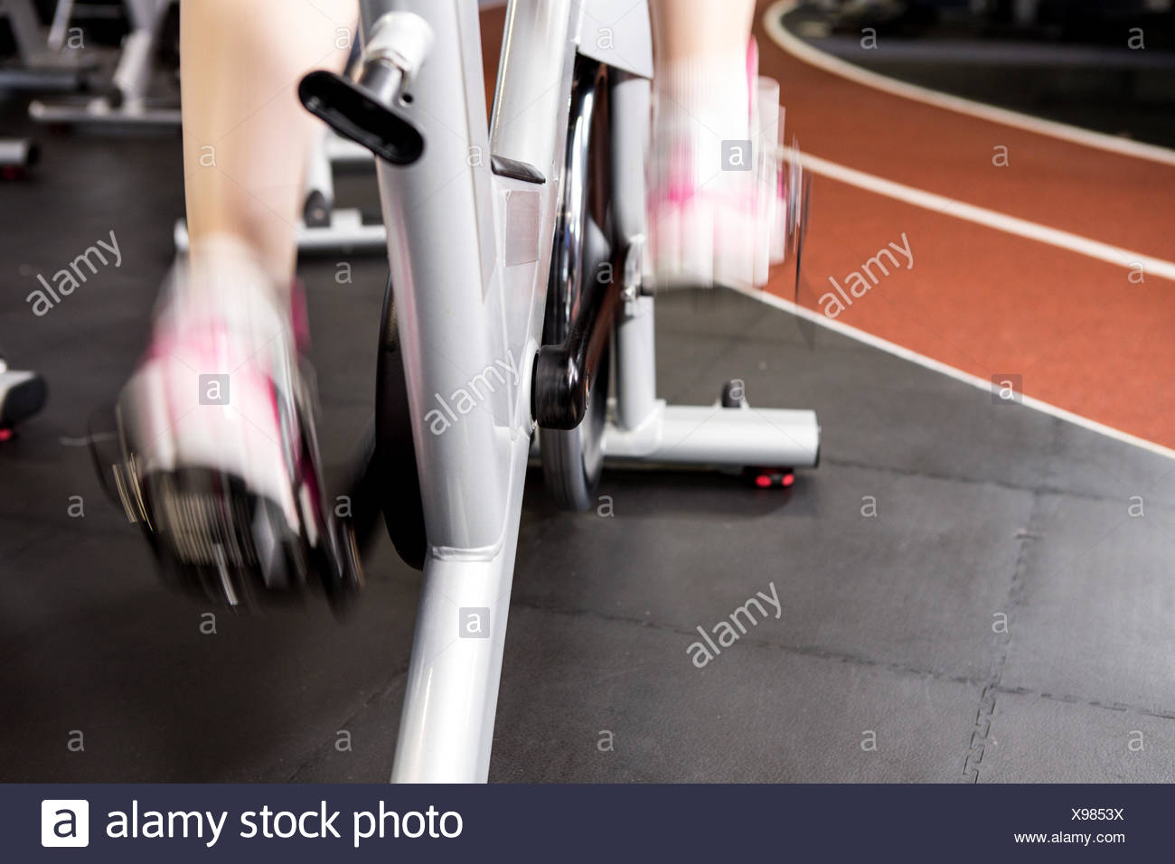 Woman doing her work out - Stock Image