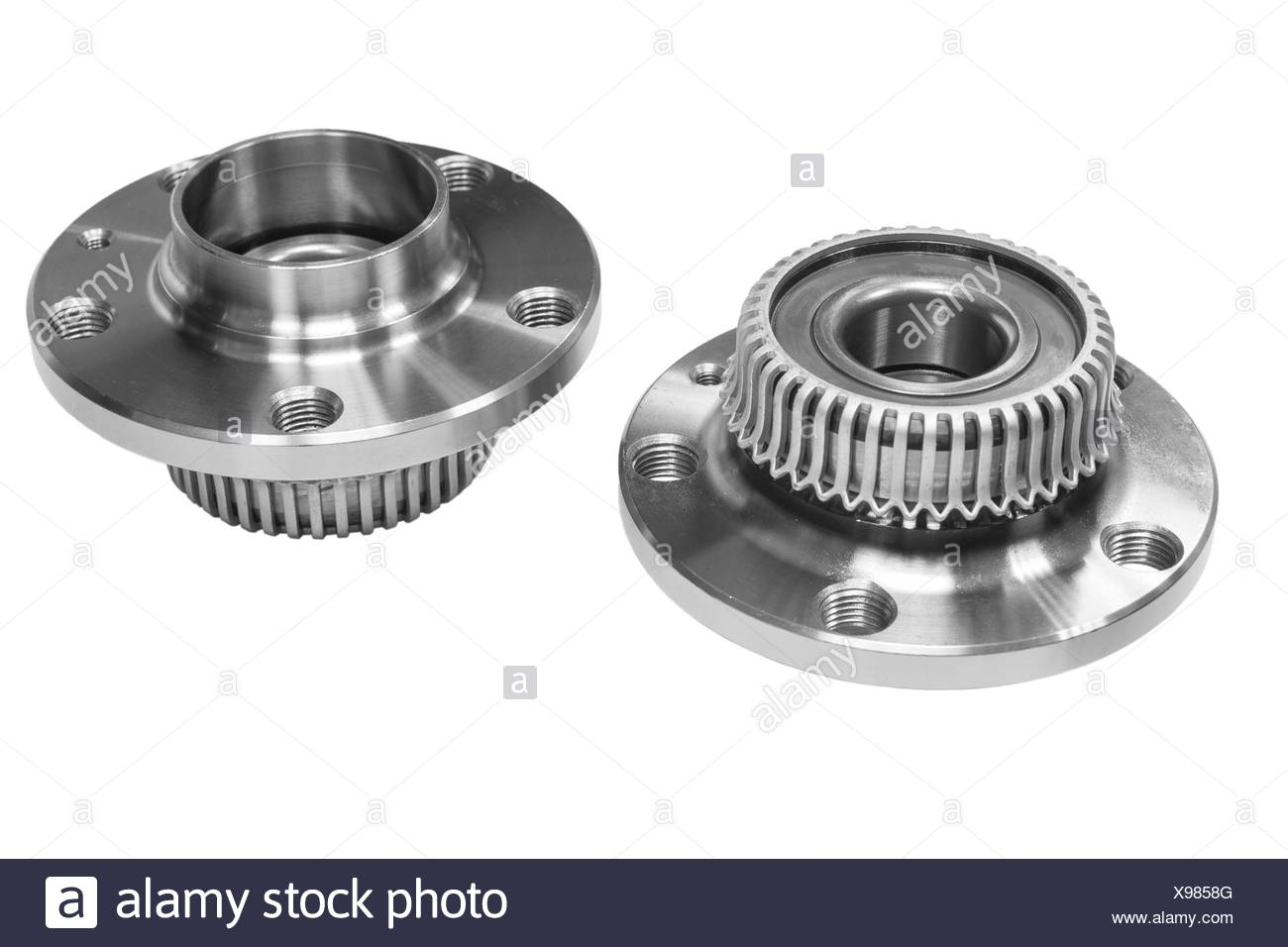 Hub bearing wheel of a car - Stock Image