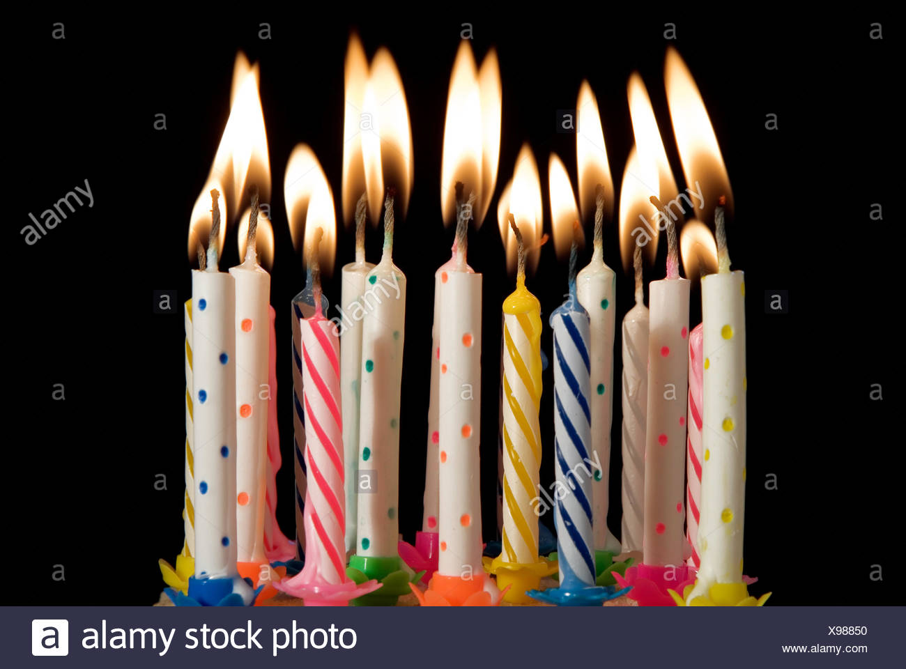 candle party celebration flame flames candles lit birthdays