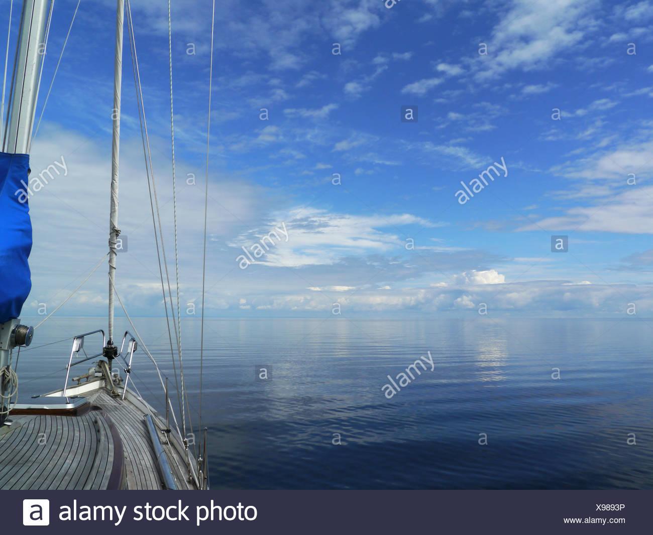 calmness at lake vänern, värmlands län, värmland, sweden - Stock Image