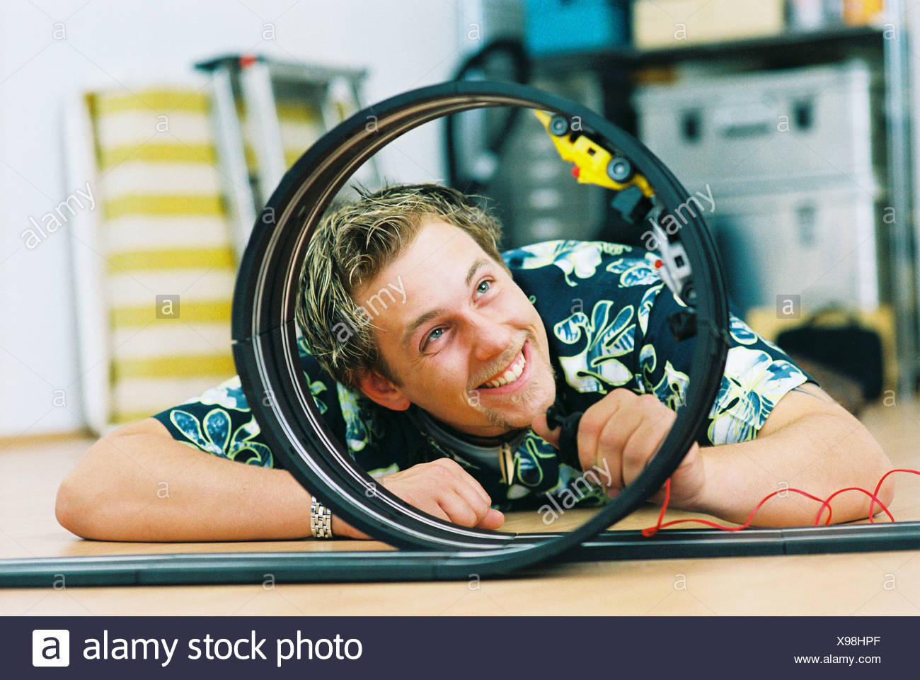 Mature car playing