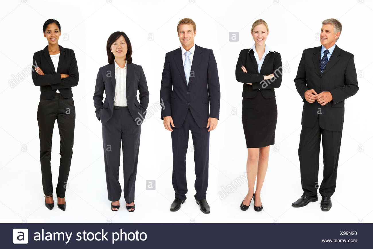 Mixed group of business men and women - Stock Image