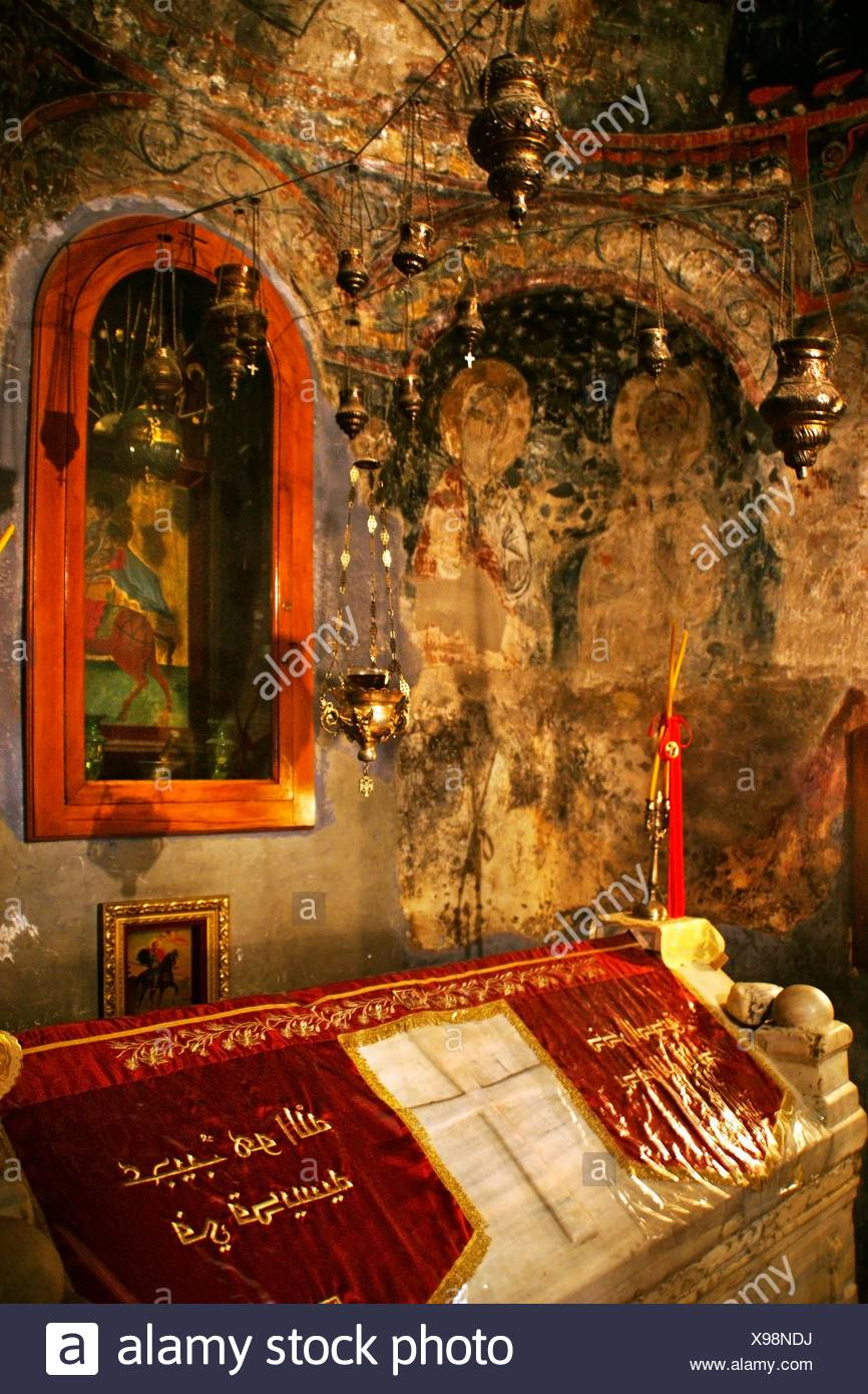 Tomb of Saint Elian (3rd century), Homs, Syria - Stock Image