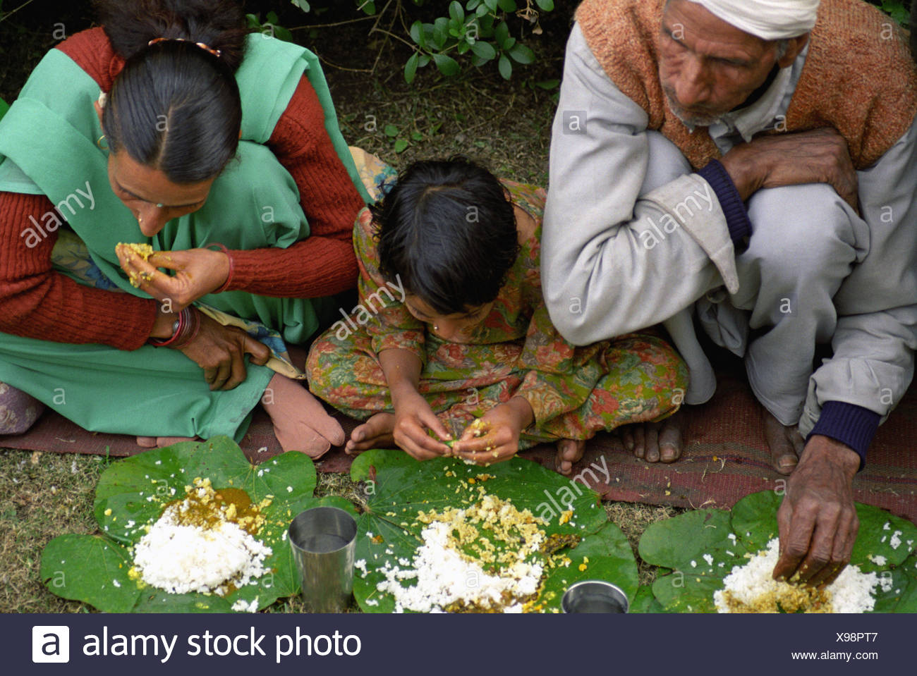 Food offering - Stock Image