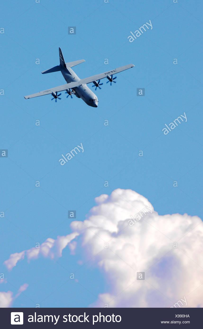 Military plane, Lockheed Hercules C130 Stock Photo