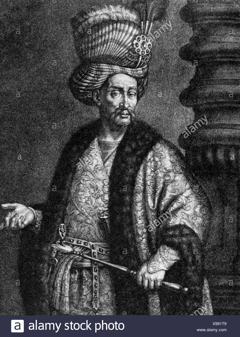 Nader Shah, 22.10.1726 - 19.6.1747, Shah of Iran 8.3.1736 -19.6.1747,  copper engraving by J. J. Haid, 18th century, , Artist's Copyright has not  to be ...