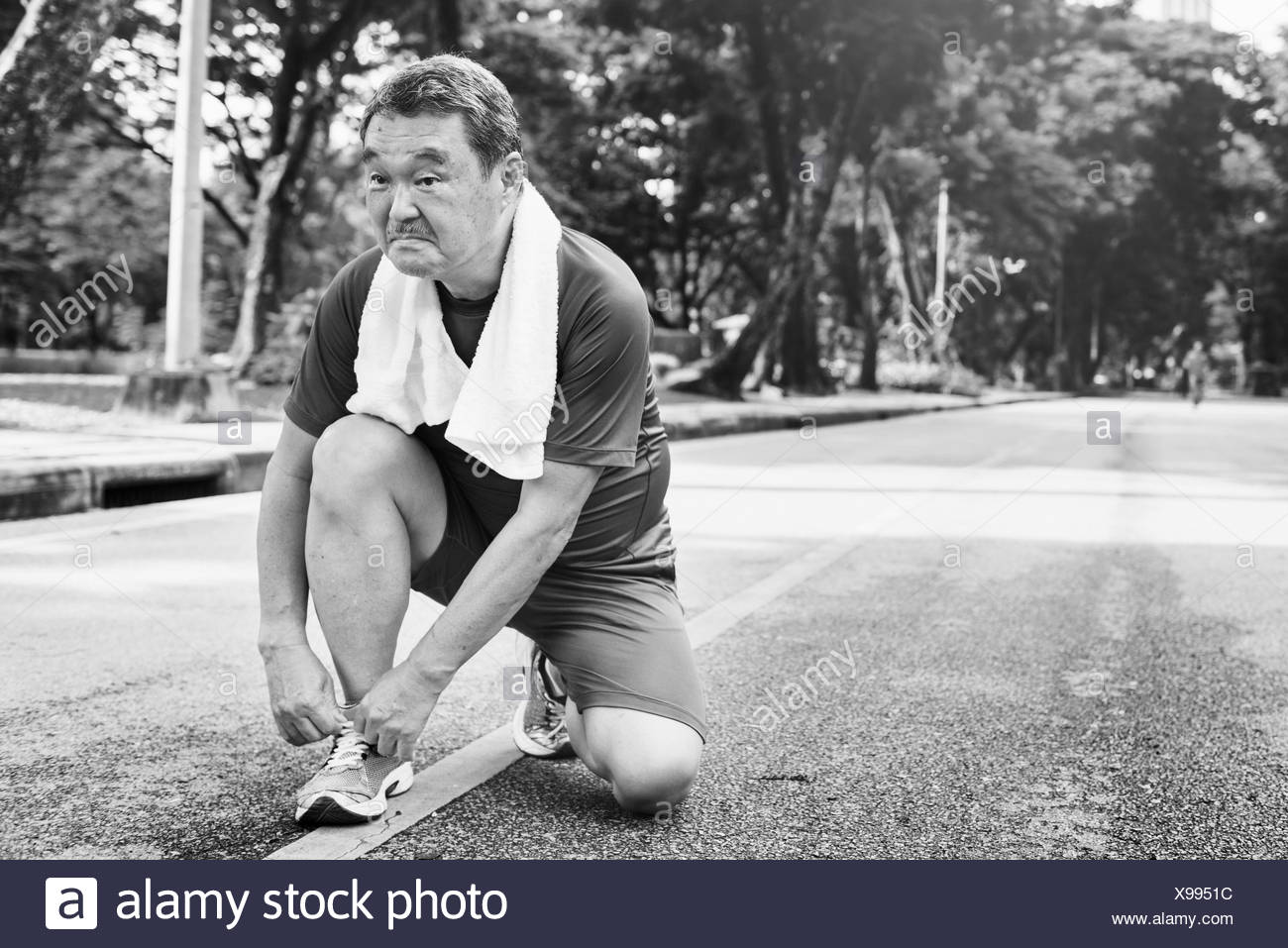 Senior Adult Jogging Running Exercise Sport Activity Concept - Stock Image
