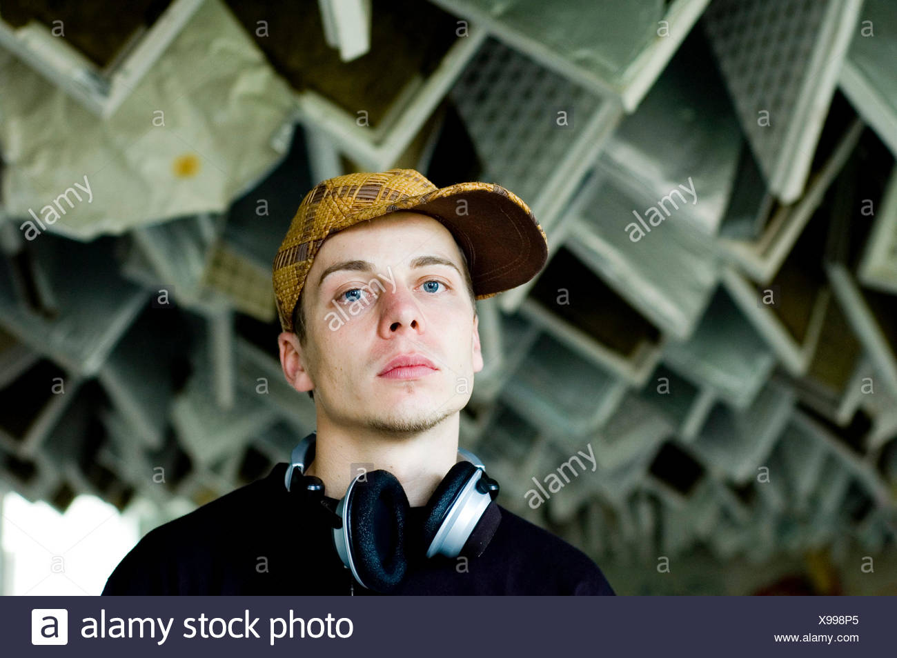 adolescent,music,listen,youth culture - Stock Image
