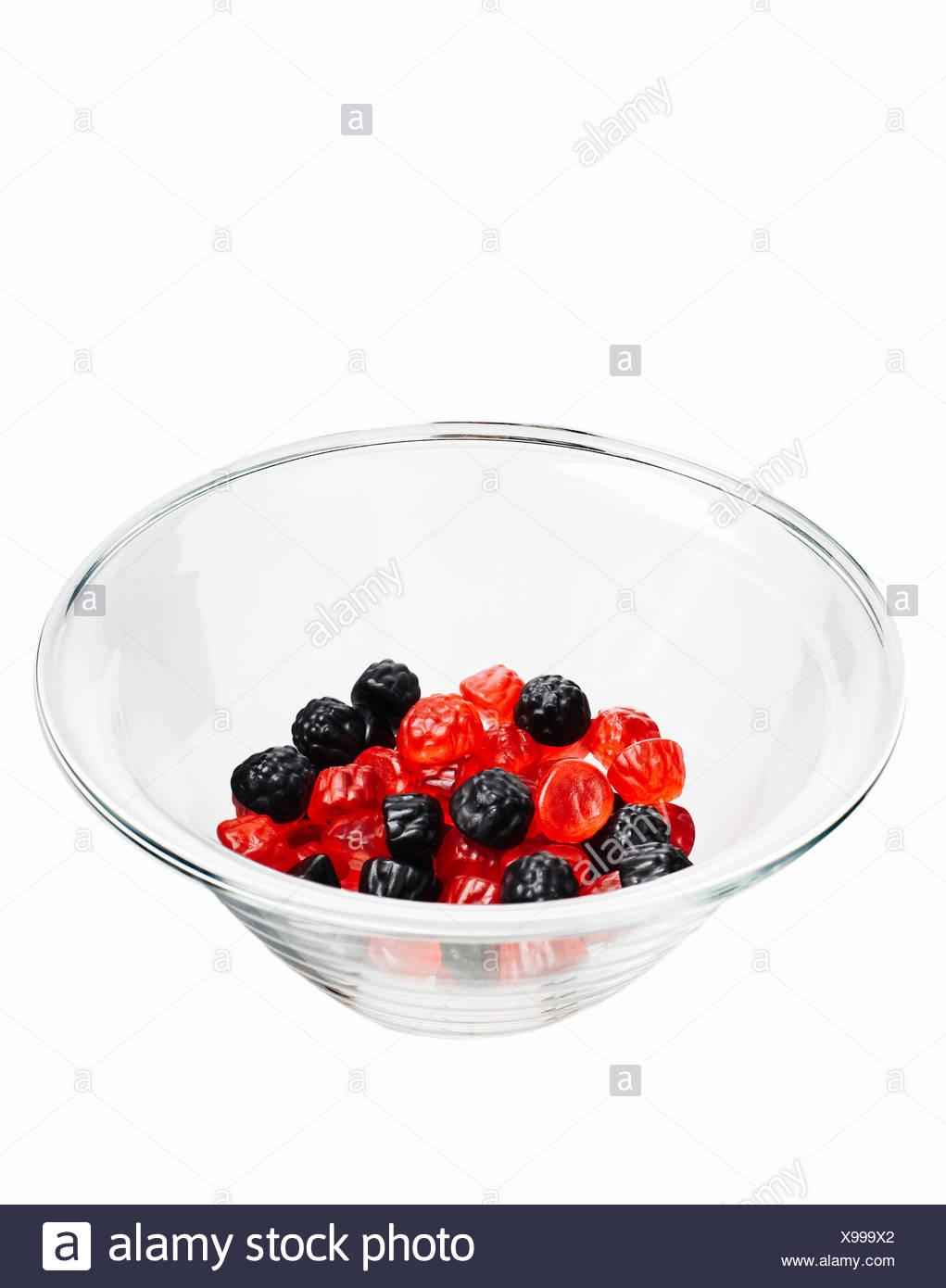 Soft raspberry gums close-up - Stock Image
