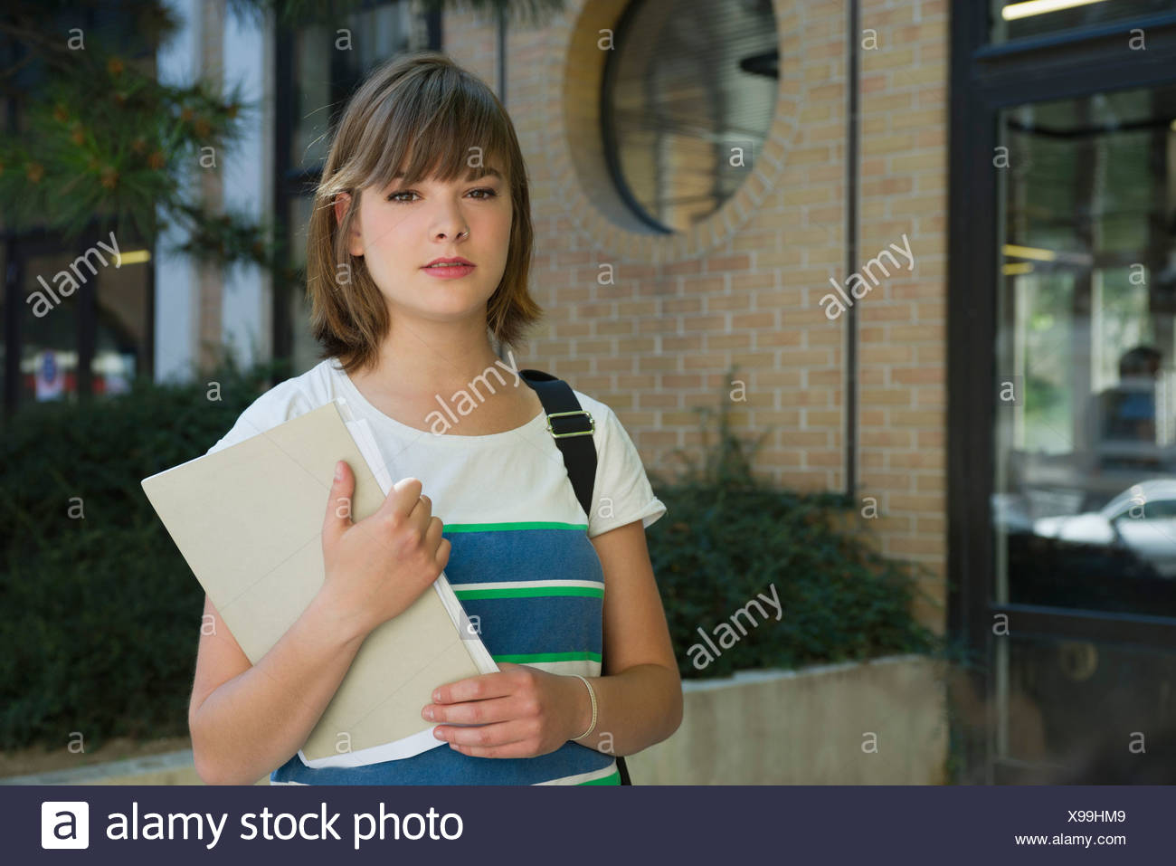 Female college student, portrait - Stock Image