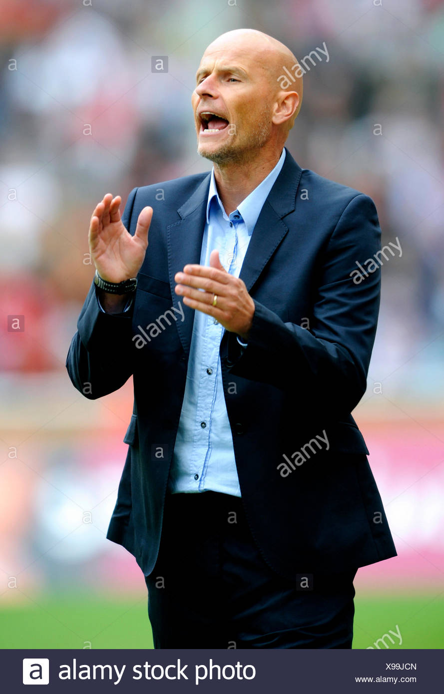 Stale Solbakken, manager of FC Cologne during football test match between FC Cologne 1-2 Arsenal, Rhein-Energie-Stadion, Cologne - Stock Image