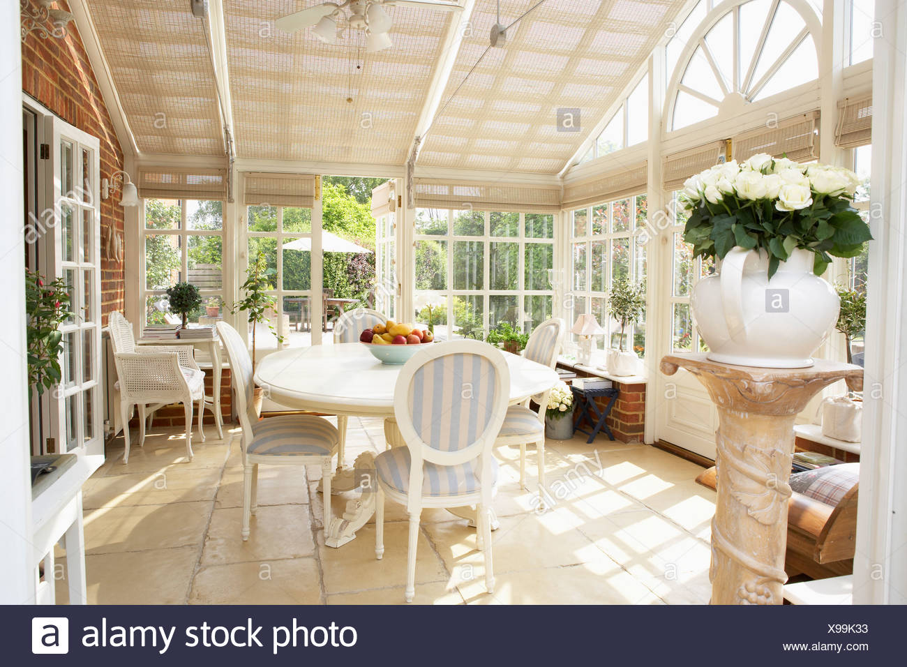 Interior Of Modern Conservatory - Stock Image