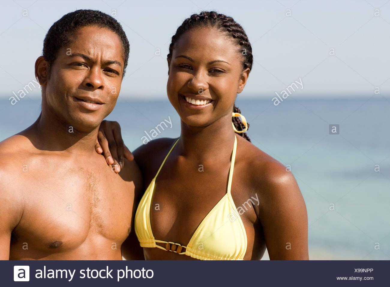 Couple on holiday. - Stock Image