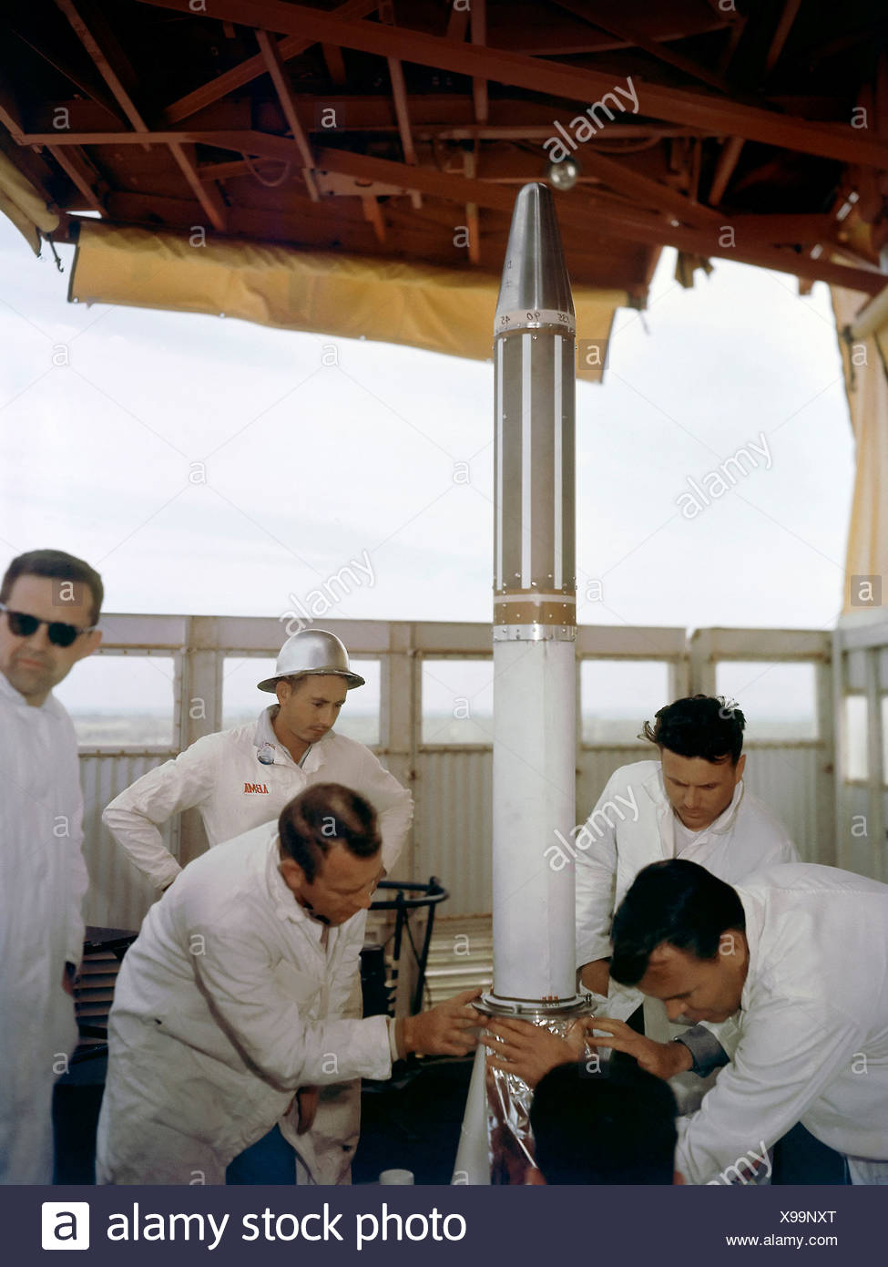 Installing Explorer 1 Prior to Launch - Stock Image