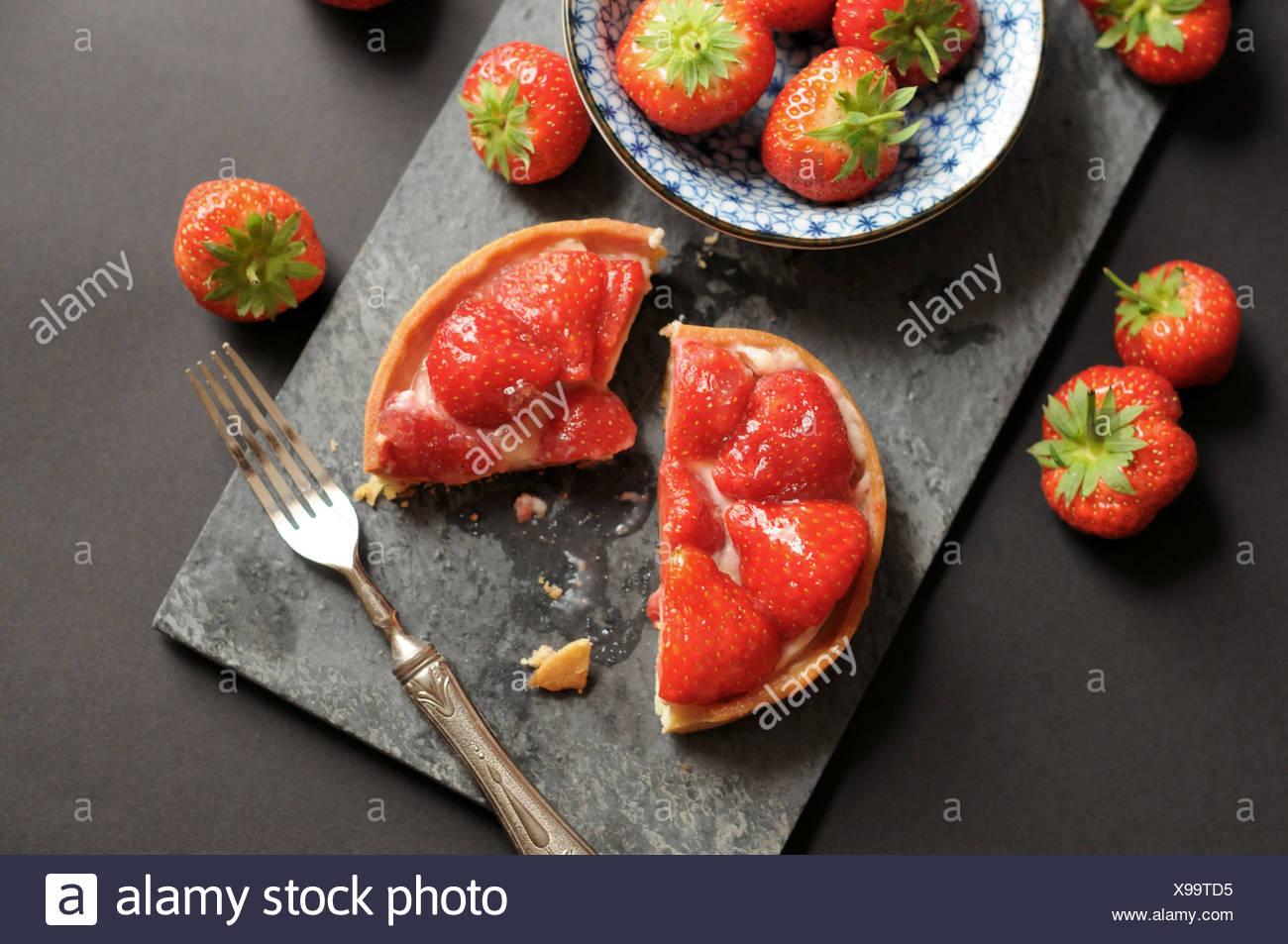Little strawberry tart - Stock Image