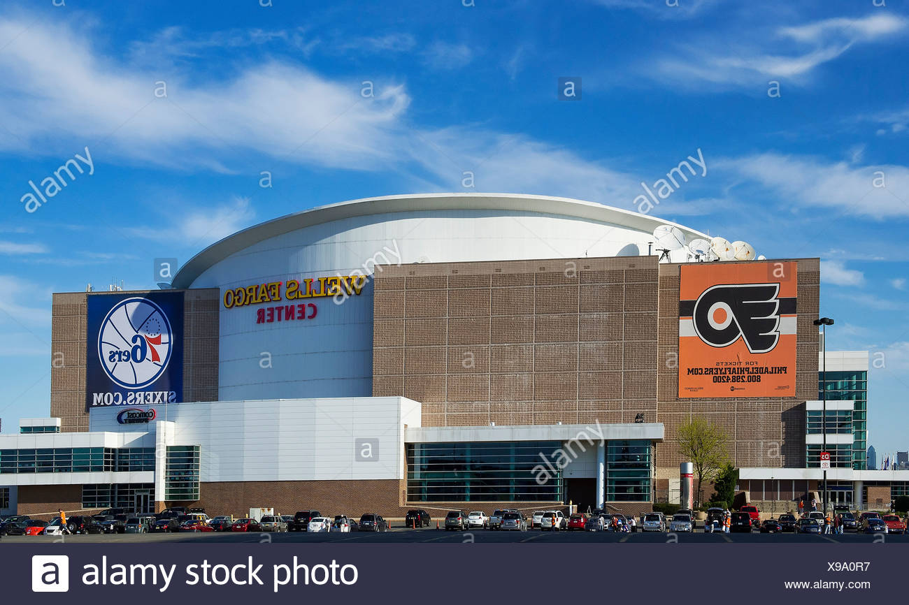 Wells Fargo Center, Philadelphia, Pennsylvania, USA - Stock Image
