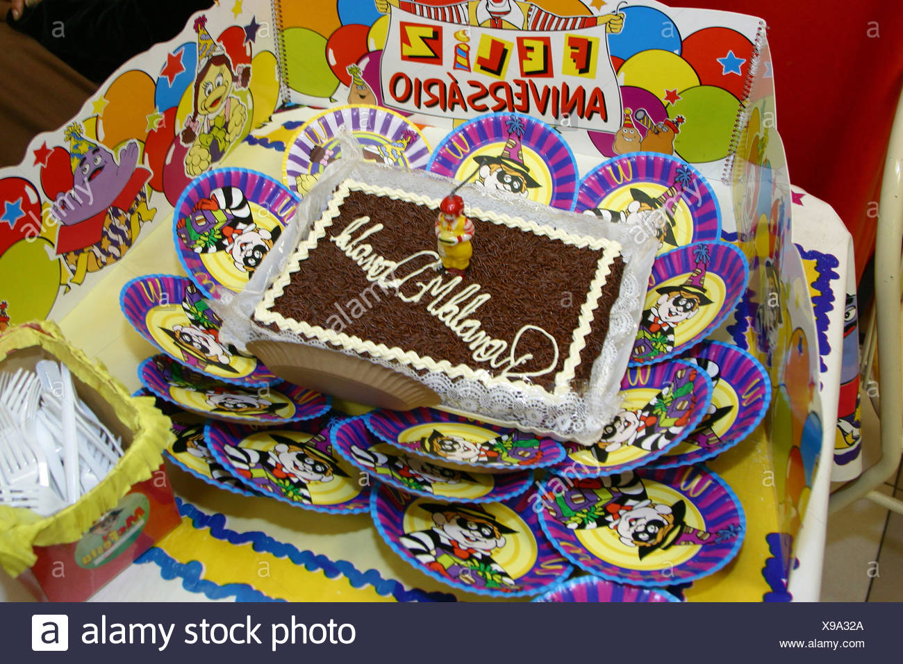 Prime Birthday Cake Mcdonalds Capital Sao Paulo Brazil Stock Photo Birthday Cards Printable Nowaargucafe Filternl
