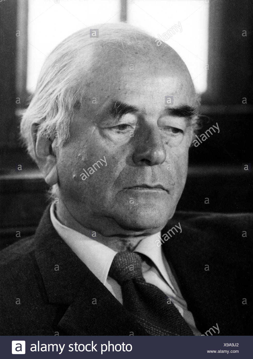 Speer, Albert, 19.3.1905 - 1.9.1981, German architect, politician (NSDAP), Minister of Armaments and War Production in Nazi Germany 1942 - 1945, portrait, 1970s, , Additional-Rights-Clearances-NA - Stock Image