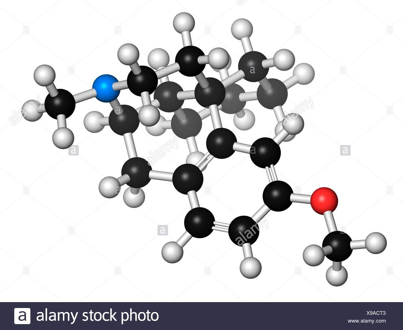 Dextromethorphan cough suppressant drug - Stock Image