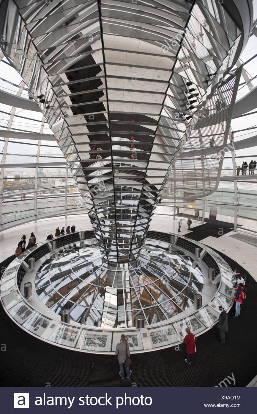 Reichstag Dome Interior - Stock Image