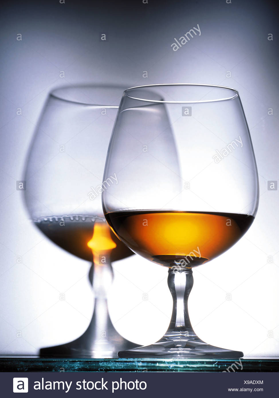 Glasses of Cognac Stock Photo