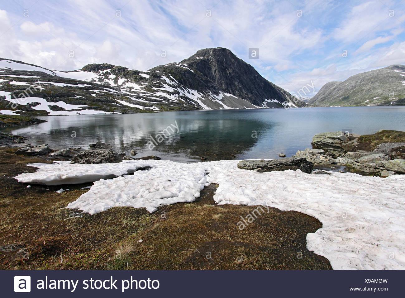 Lake Djupvatnet, Dalsnibba, More og Romsdal, Norway - Stock Image