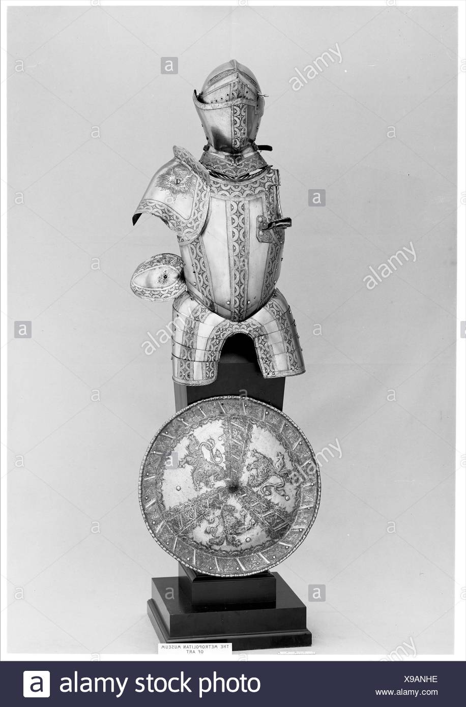 Portions of an Armor Garniture. Etcher: Jörg Sorg the Younger (German, Augsburg, ca. 1522-1603); Date: ca. 1550-55, some etched decoration, 19th - Stock Image