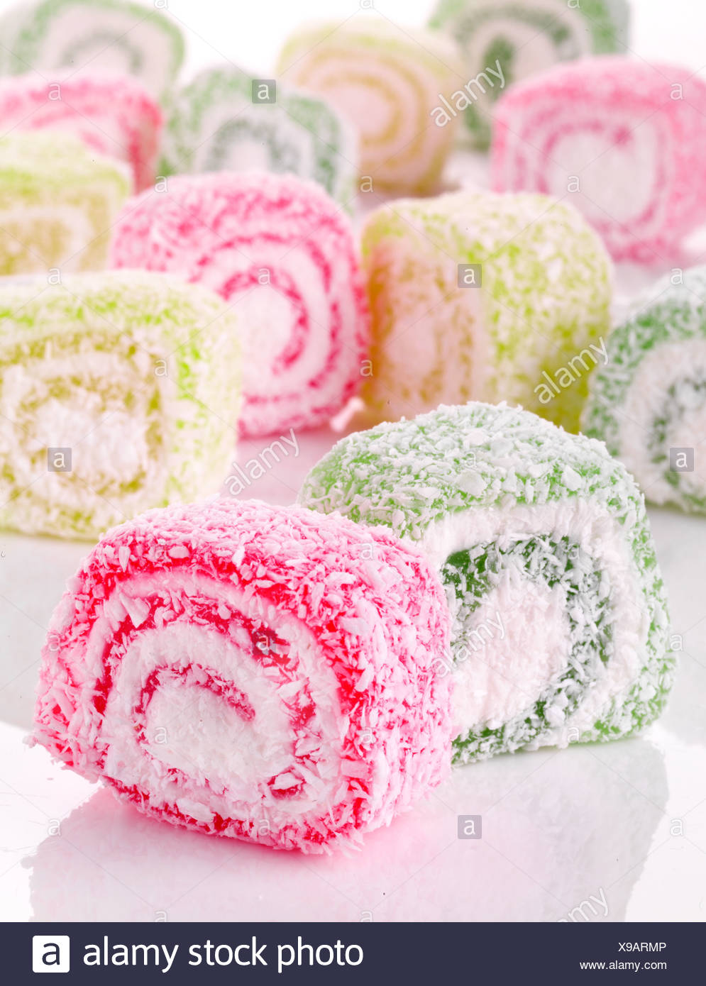 SPIRAL TURKISH DELIGHT - Stock Image