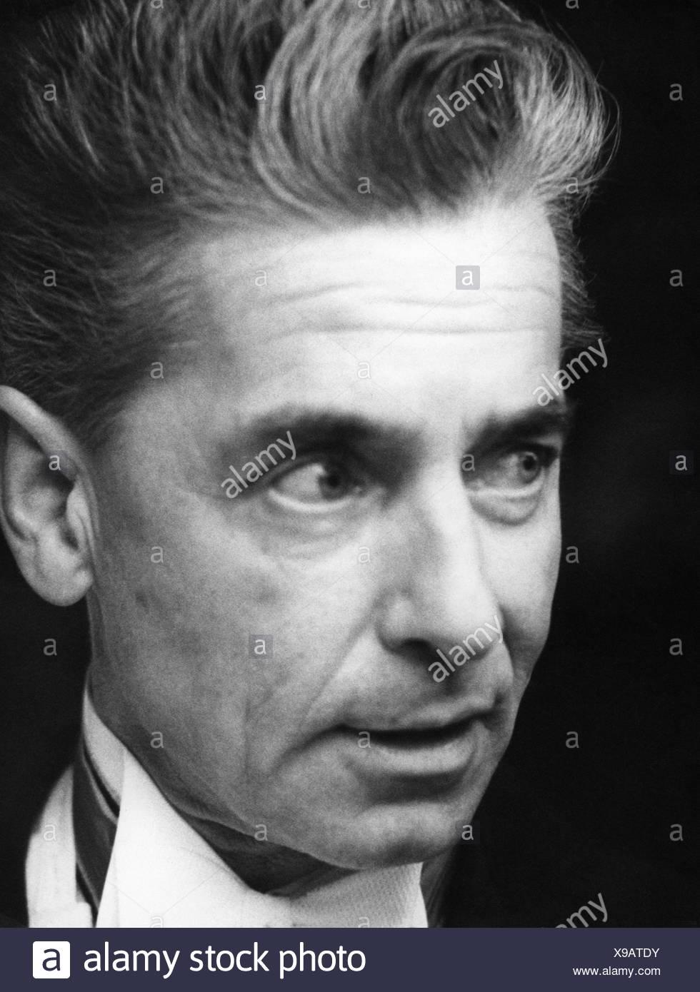 Karajan, Herbert von, 5.4.1908 - 16.7.1989, Austrian conductor, portrait, 1963, , Stock Photo