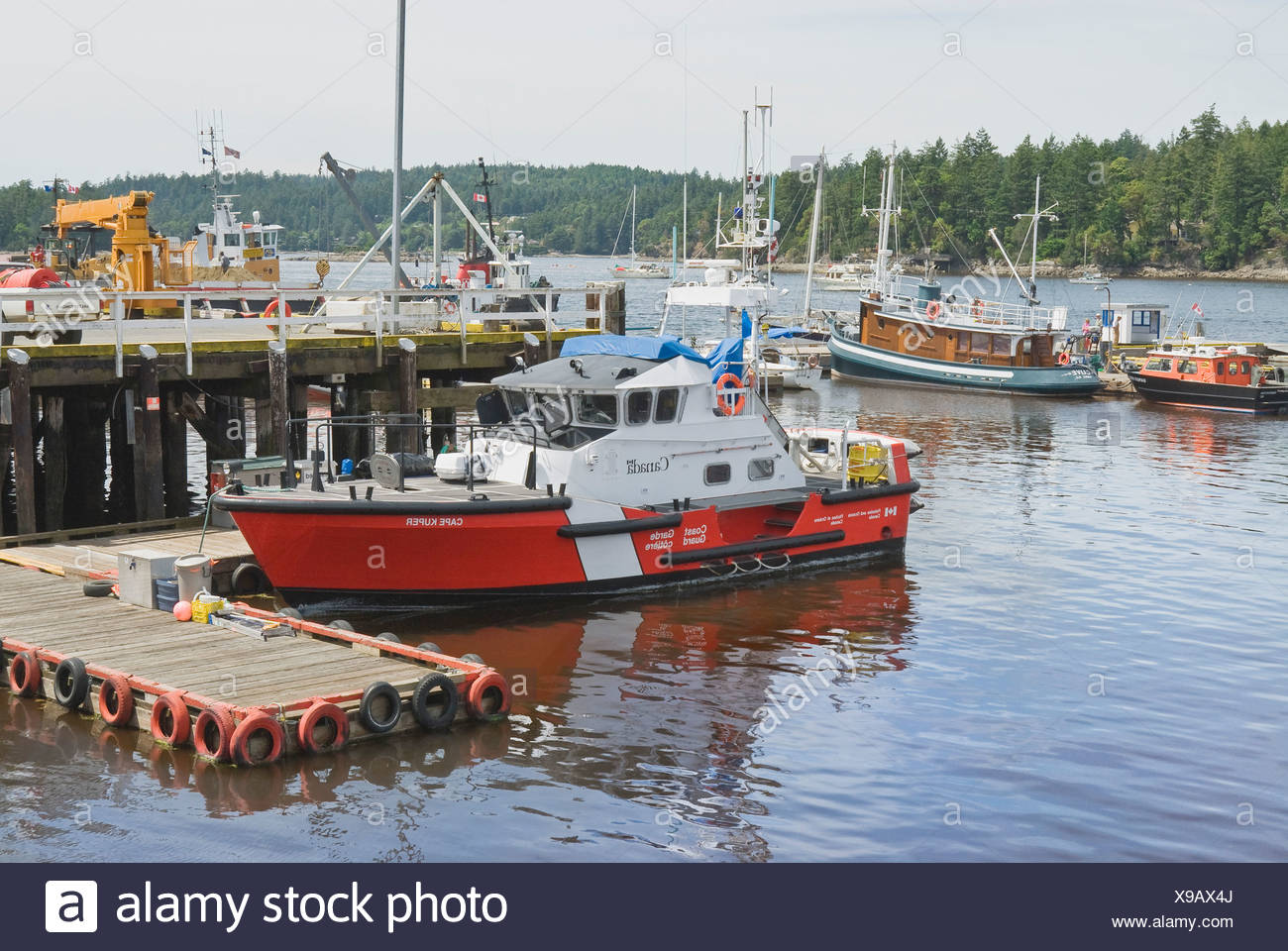 Canadian Coast Guard Vessel Cape Kuper At Dock Gulf