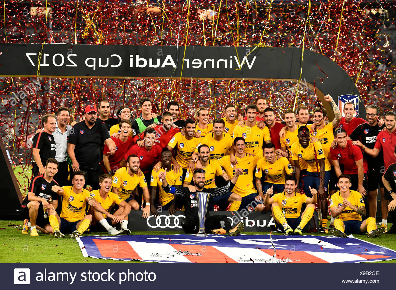 Atletico Madrid wins Audi Cup 2017, Allianz Arena, Munich, Bavaria, Germany - Stock Image